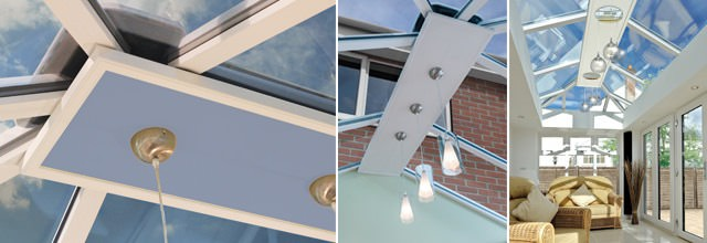 Lighting and finishing touches for conservatory