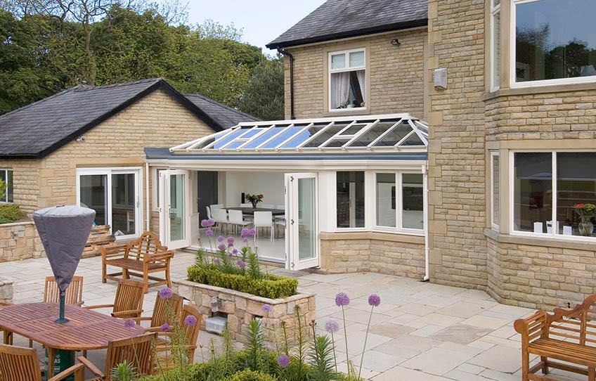 Ultraframe Orangery in Cream foil