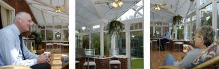Interior shots of Mr & Mrs Birds' beautiful Ultraframe t-shape conservatory
