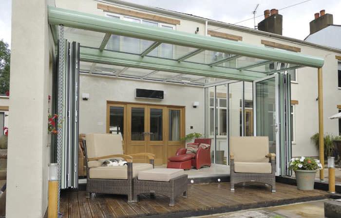 Veranda glazed extensions